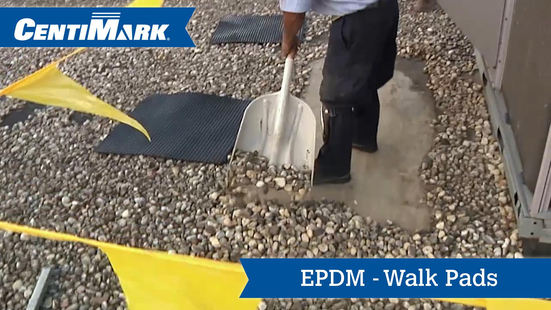 Epdm Roof System Walk Pads Epdm Roofing Centimark