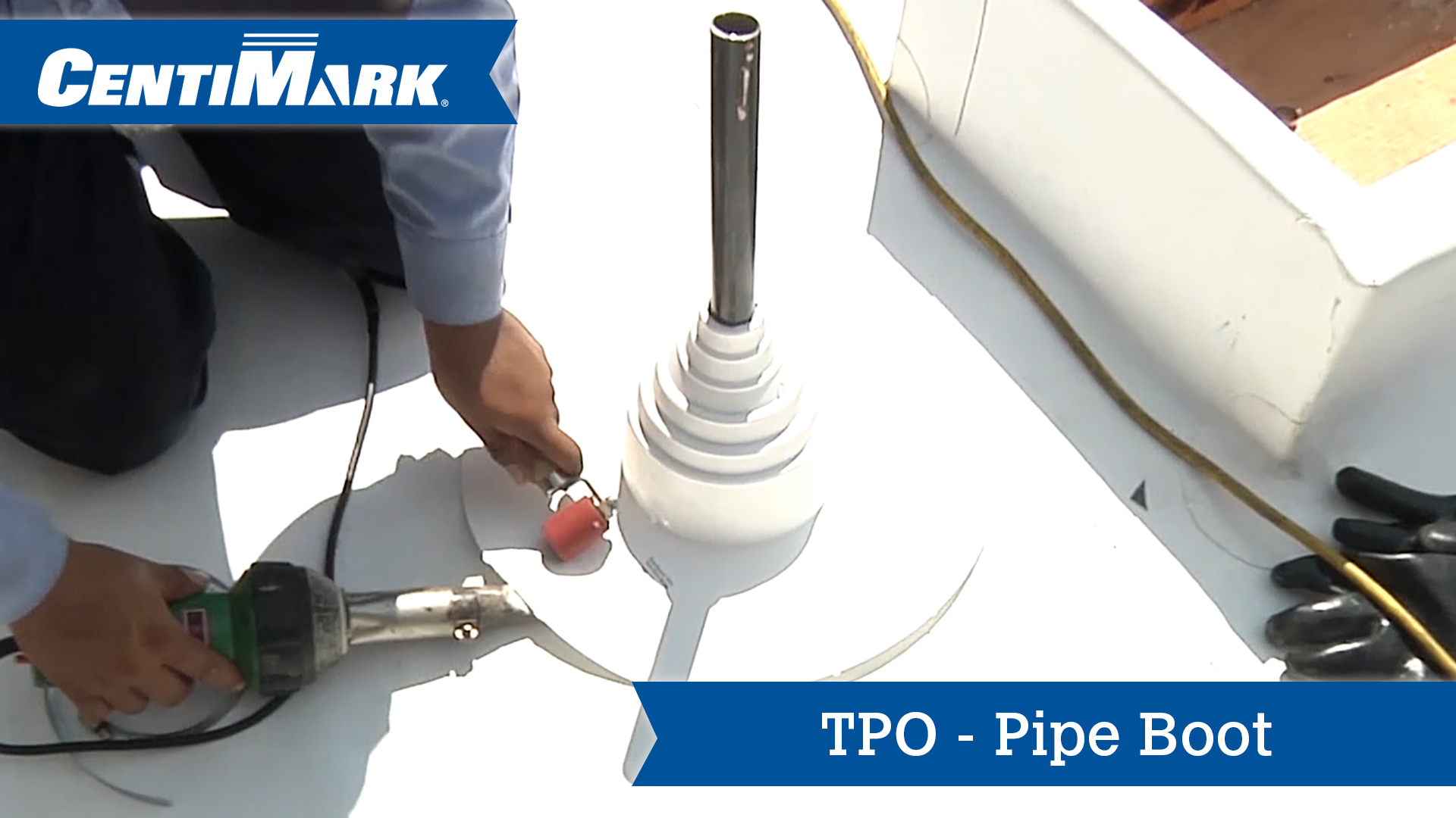 Tpo Roof System Pipe Boot Professional Roofing Services