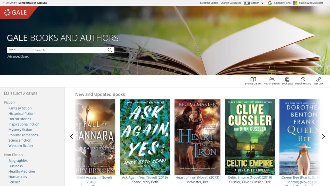 Gale Books and Authors - Finding Your Next Read Thumbnail