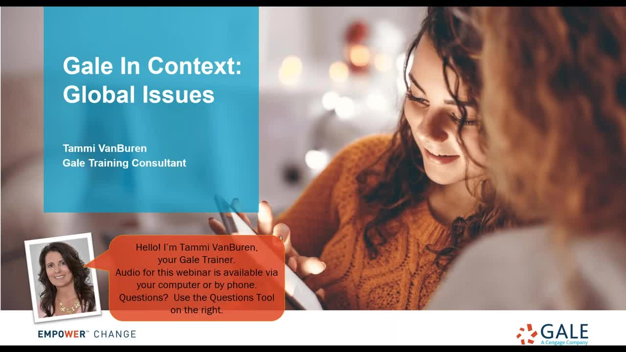 Gale In Context: Global Issues Webinar Thumbnail