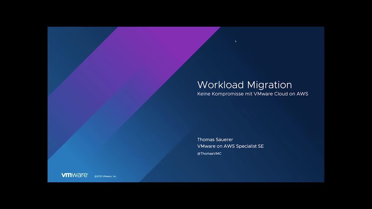 Workload Migration – Keine Kompromisse mit VMware Cloud on AWS