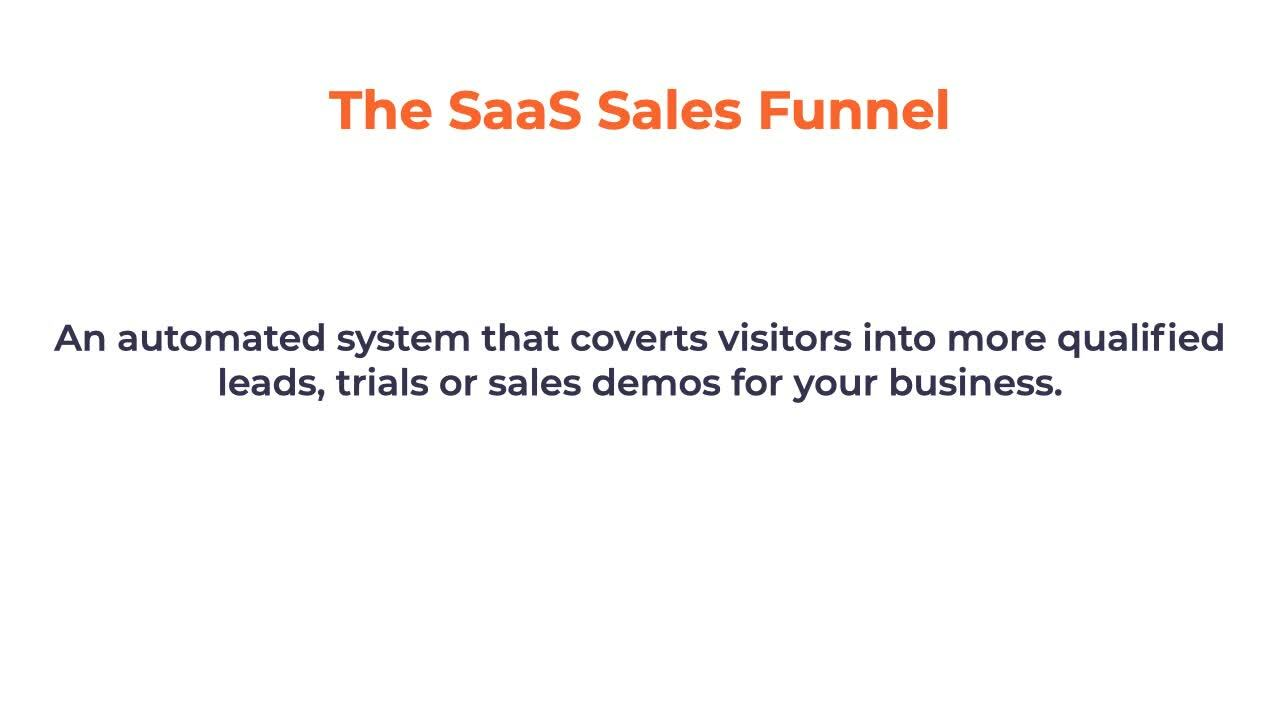 Saas sales funnel video copy