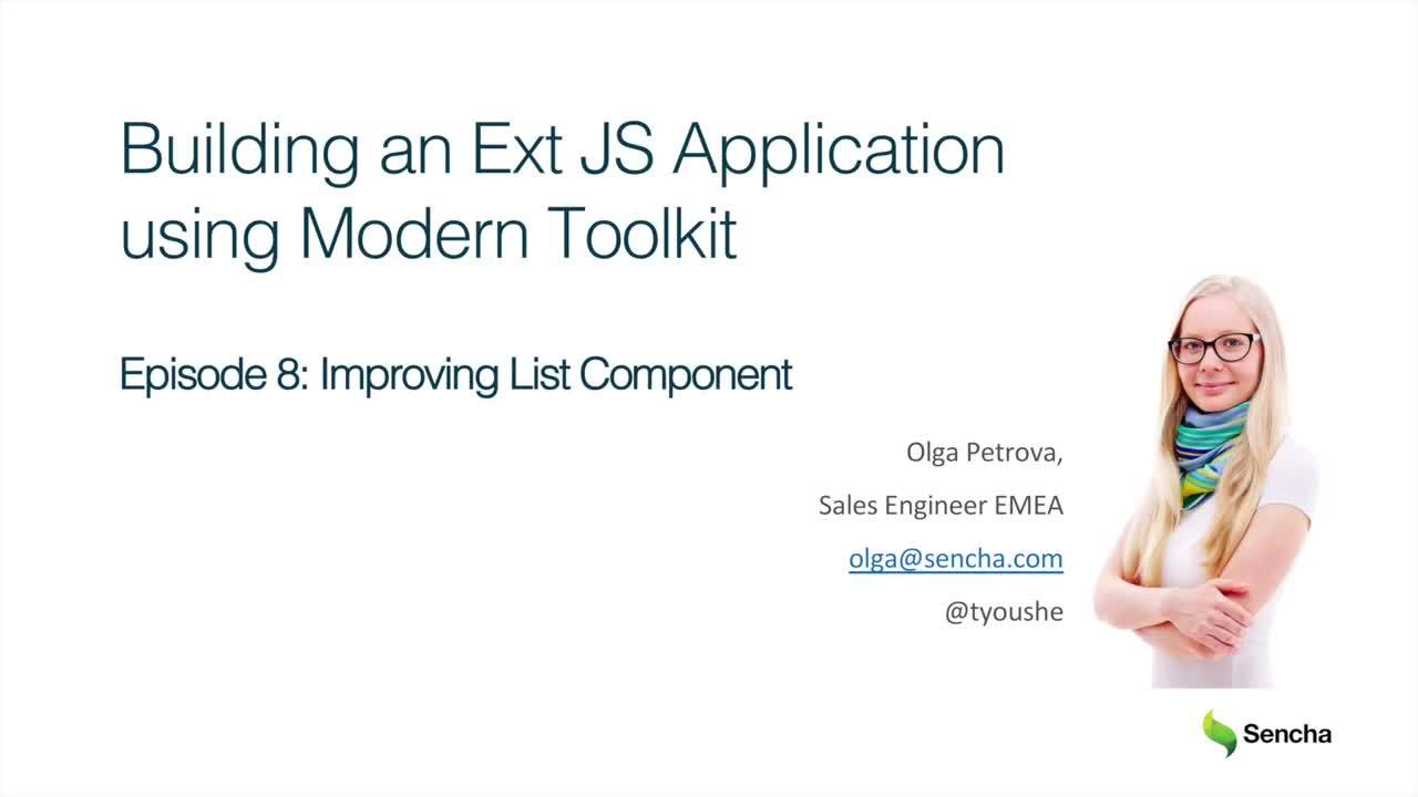 Improving List Component: Building an Ext JS Application Using Modern Toolkit