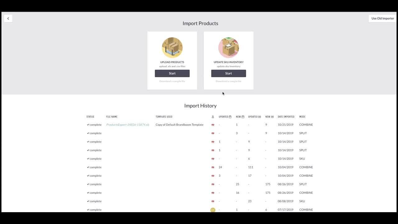 Brandboom Support - CREATE - Advanced Product Options - Import Products