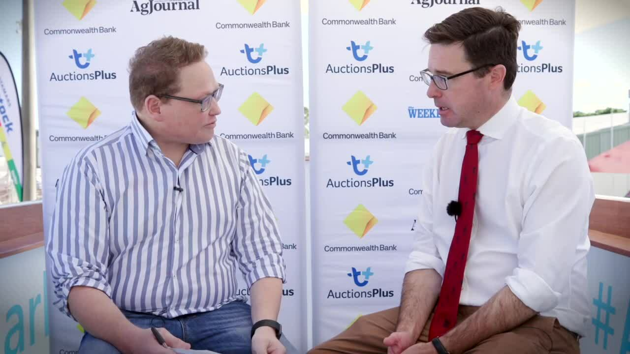 Hon David Littleproud MP - Minister for Agriculture - Interview - Reduced
