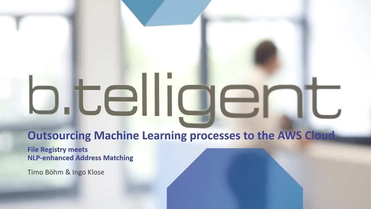 Outsourcing Machine Learning Processes to the AWS Cloud - presented by b.telligent