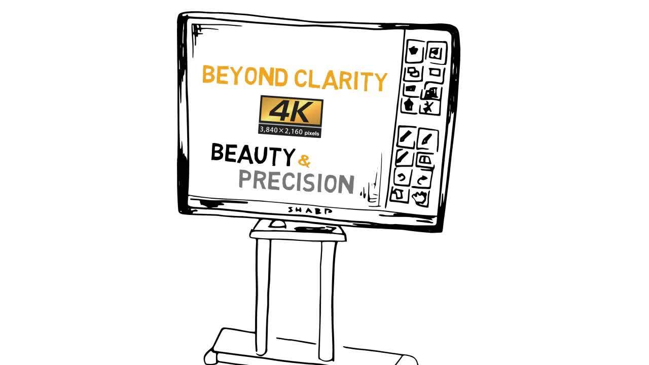 Introducing the 4K Ultra-HD Sharp PN-L705H AQUOS BOARD® Interactive Display System