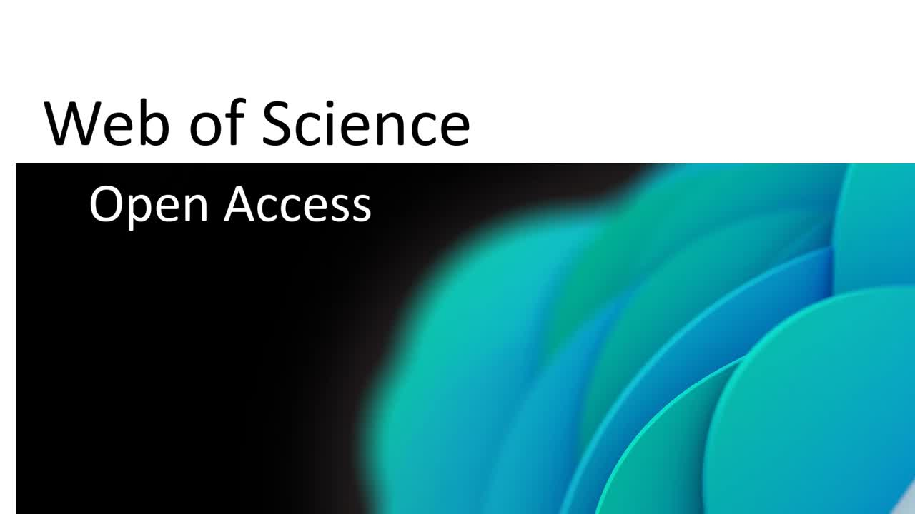 Open Access in Web of Science