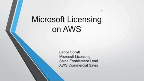 Microsoft Licensing on AWS