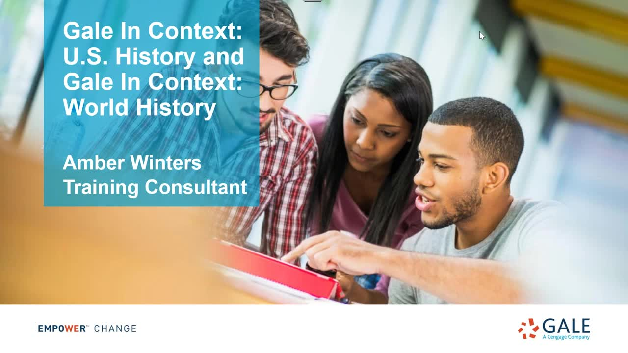 Gale In Context: U.S. and World History Webinar Thumbnail