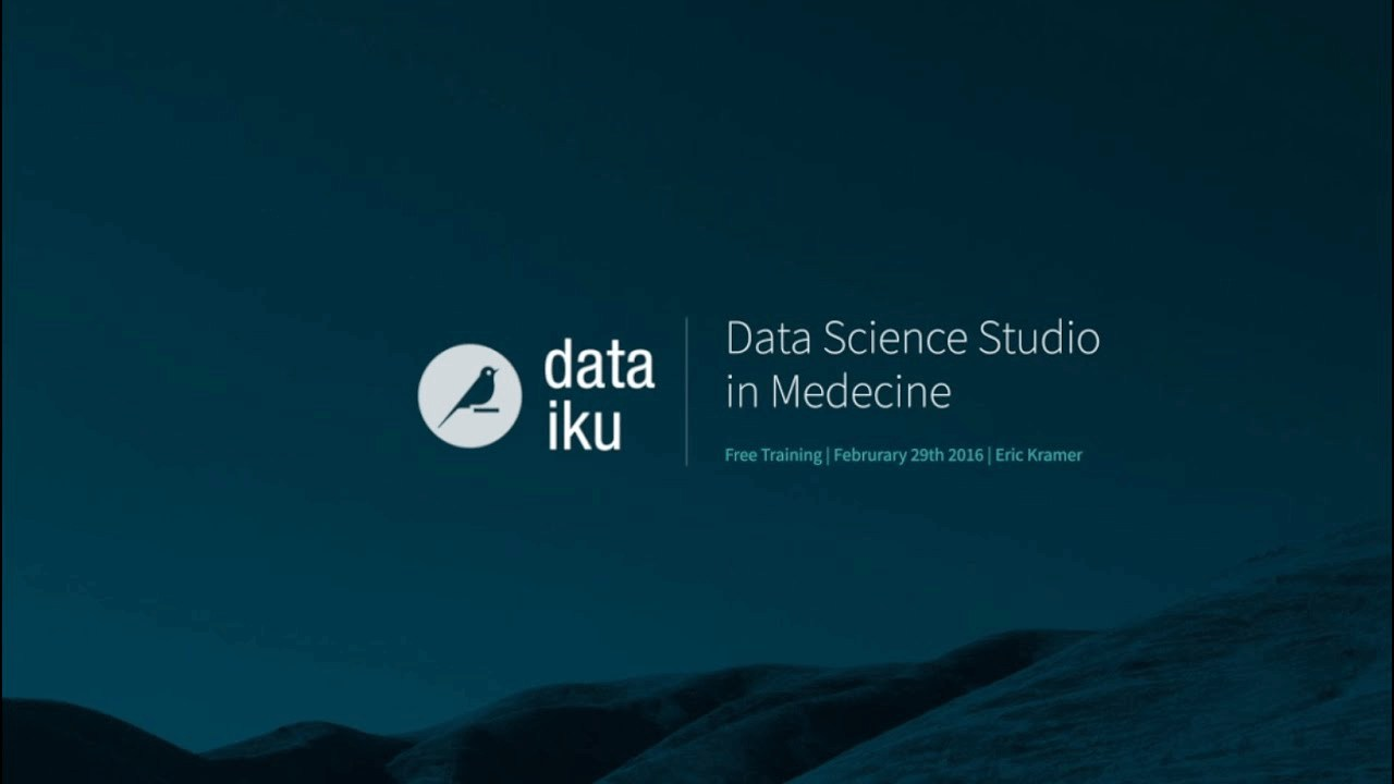 Leverage Patient Data in 15 minutes with Dataiku