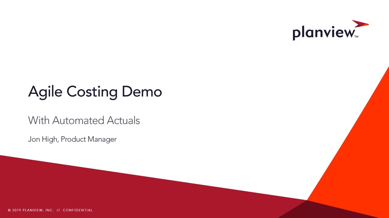 Agile Costing Demo with Automated Actuals