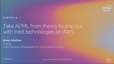 AWS re:Invent 2019: Take AI/ML from theory to practice with Intel technologies on AWS (AIM203-SR)
