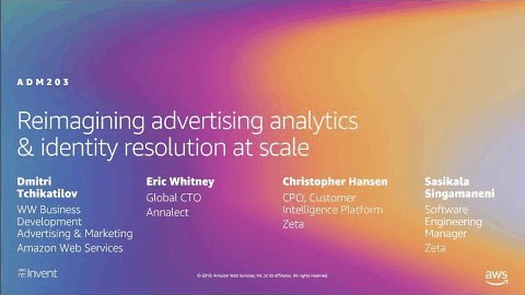 AWS re:Invent 2019: Reimagining advertising analytics & identity resolution at scale