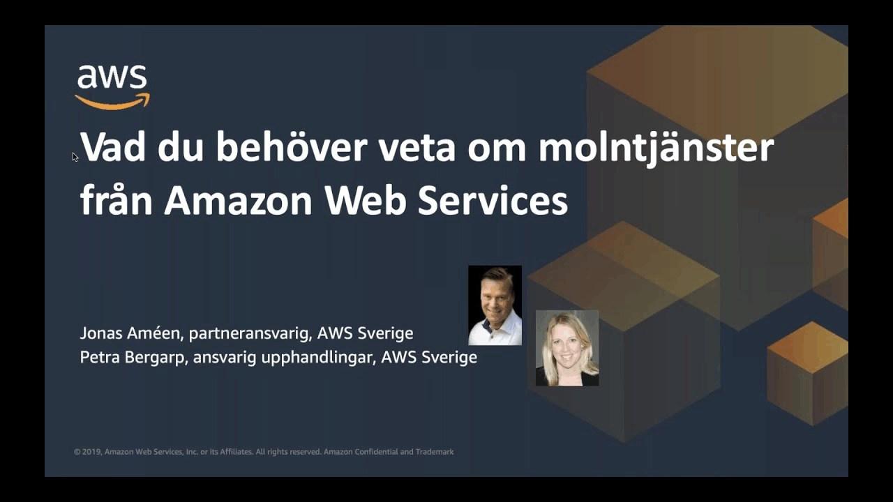 Molntjänster från Amazon Web Services - effektiv och säker digitalisering för offentlig sektor