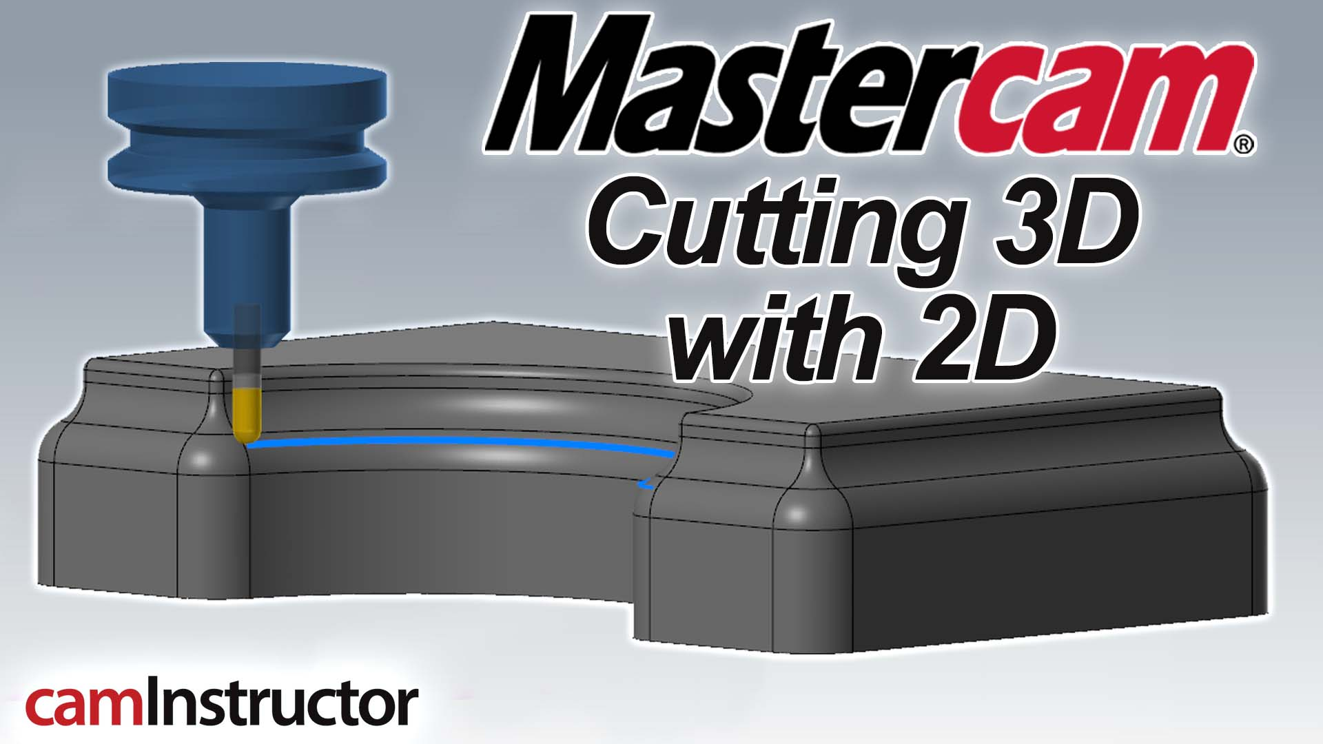 3D Cutting with a 2D Toolpath