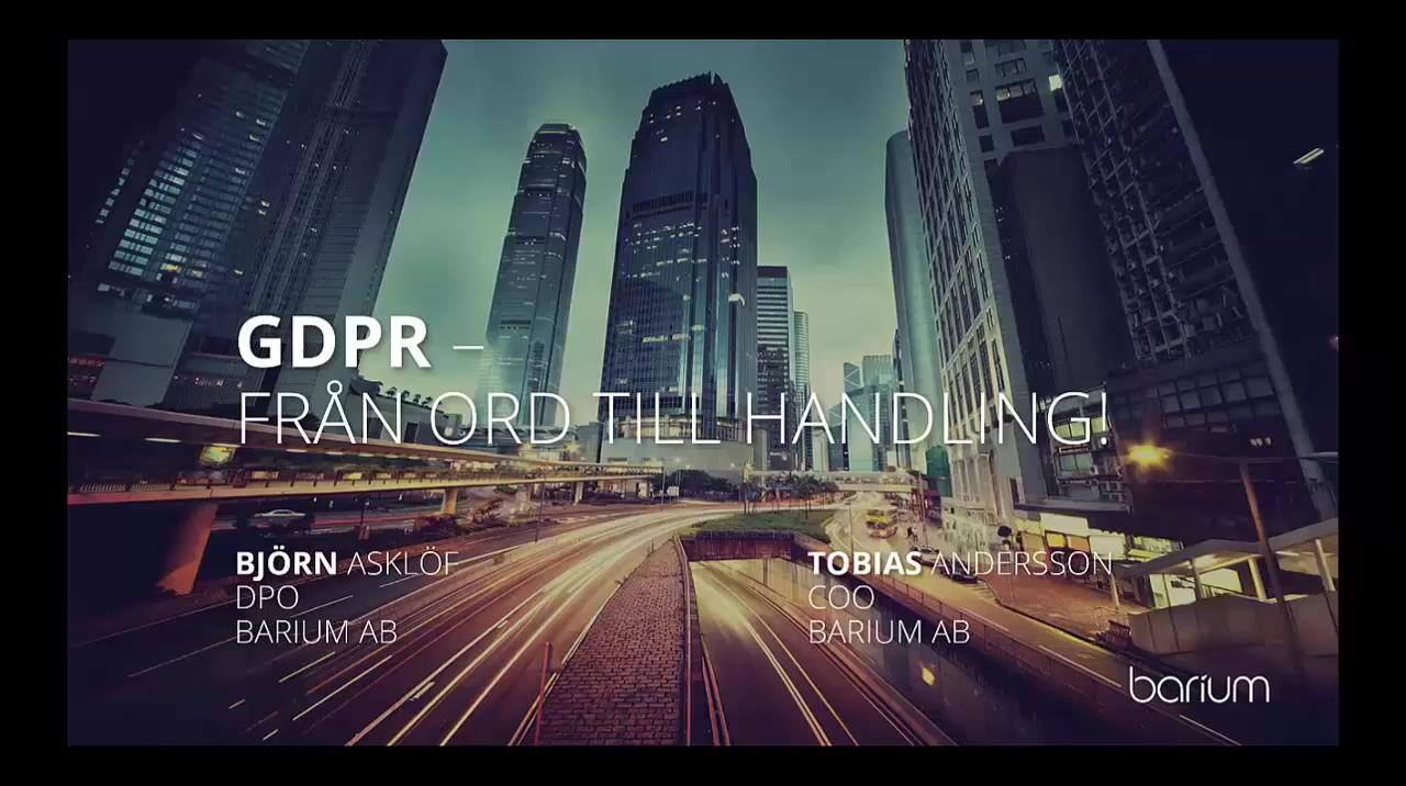 GDPR demo on-demand webinar
