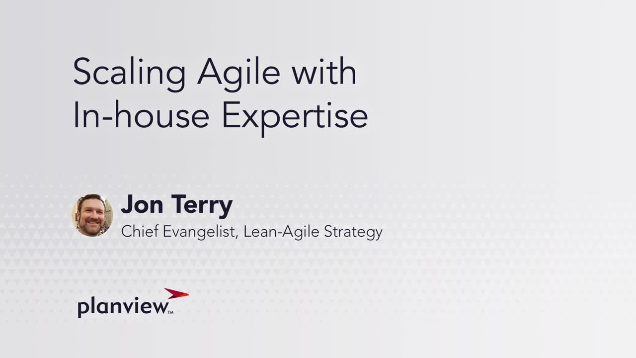 Video: Organizations today are trying to scale Agile upward.