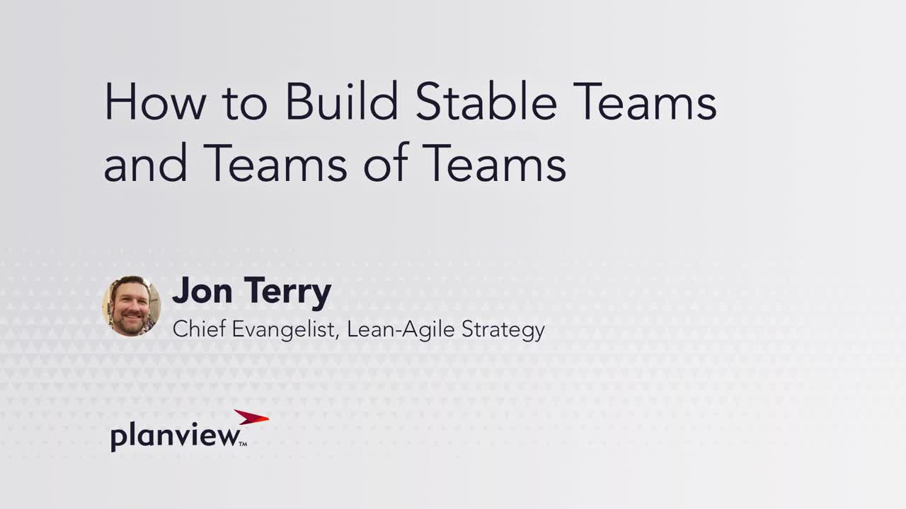 Video: Teams of teams work together to achieve a common goal: Larger products or value streams for business intent.