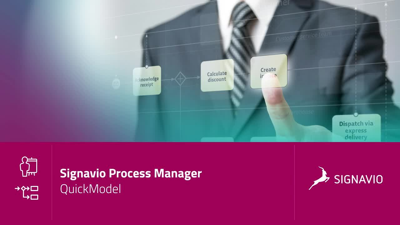 Signavio Process Manager - QuickModel