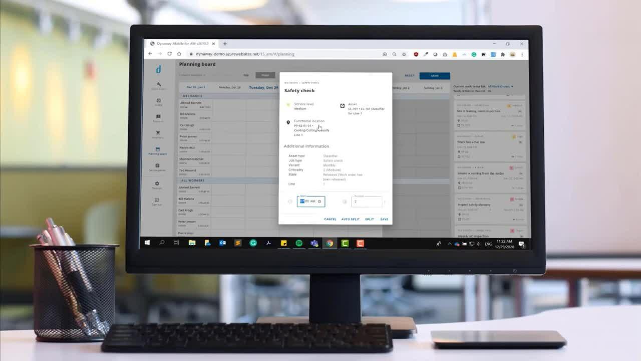 Work Order Scheduling Microsoft Asset Management