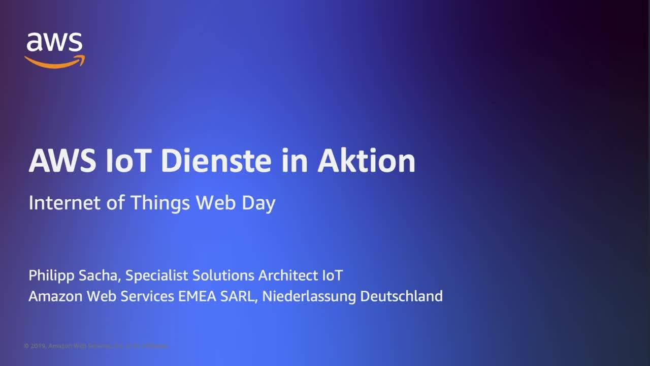 AWS IoT Dienste in Aktion