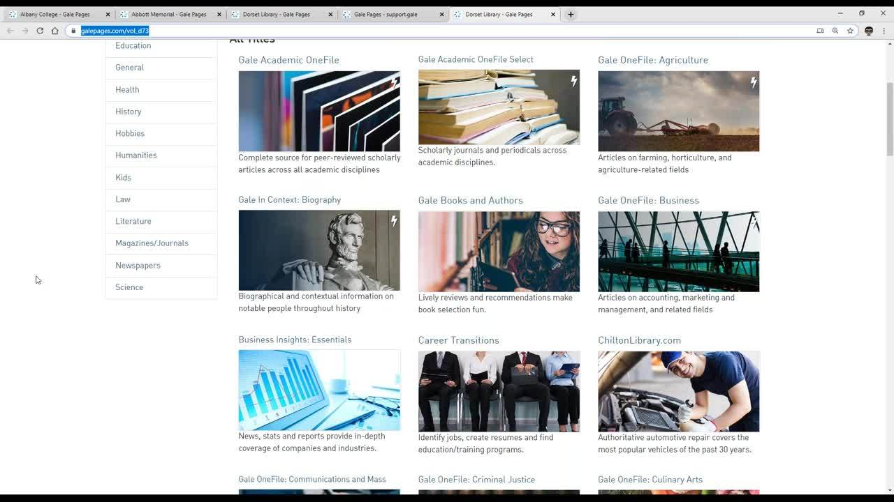 For VOL: Get to Know Gale Pages, A Customizable VOL Access Site Thumbnail