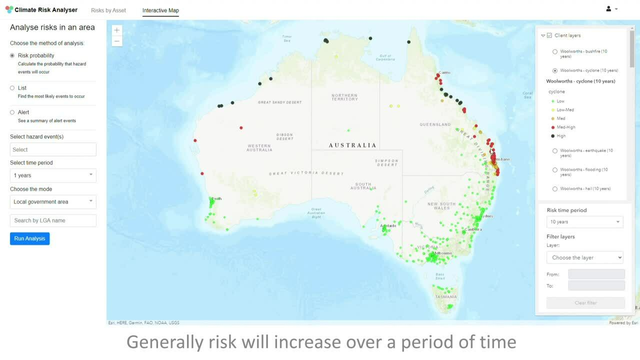Using Client Data to Identify Climate Risk