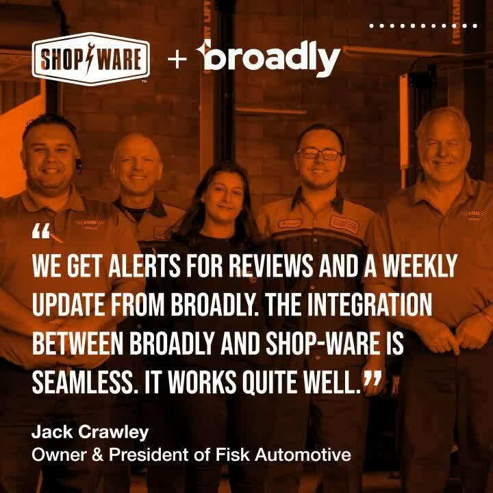 Shop-Ware + Broadly Testimonial Headliner
