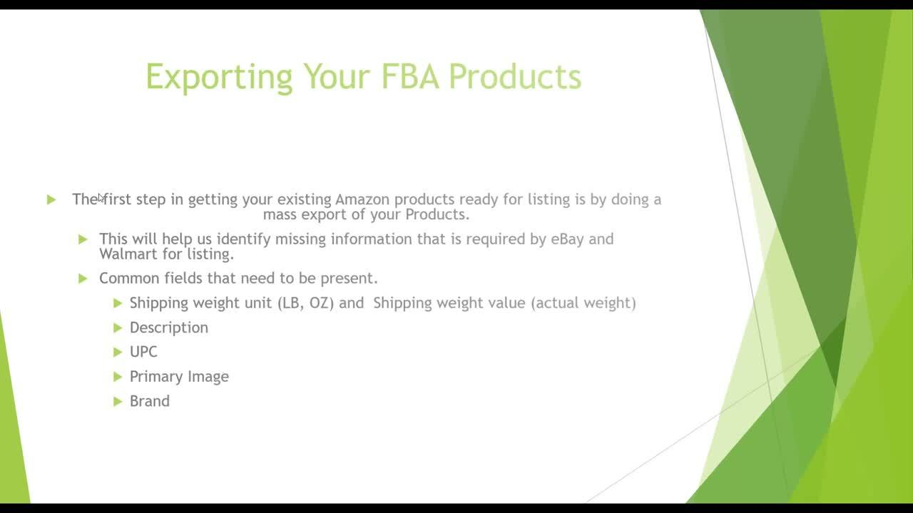 Adding FBA Products to SellerActive as FBM