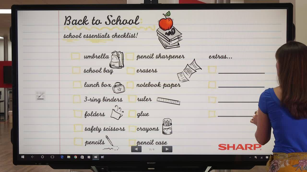 Back to School Made Simple with Sharp!