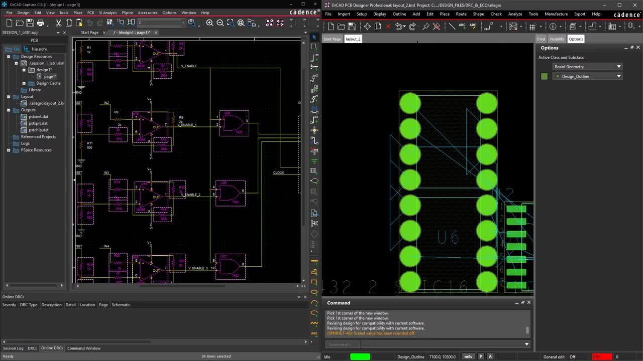 Real-Time Feedback and ECO - OrCAD Product Feature