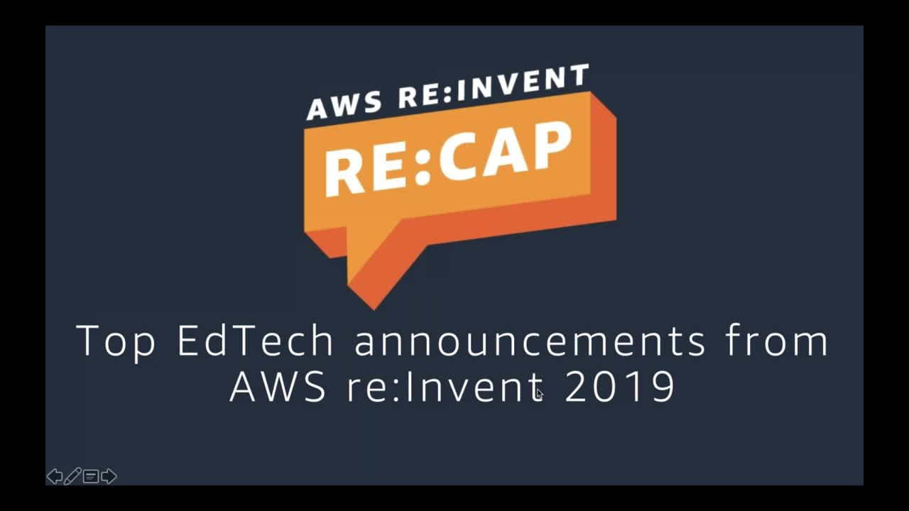 Top announcements for EdTech from AWS re:Invent