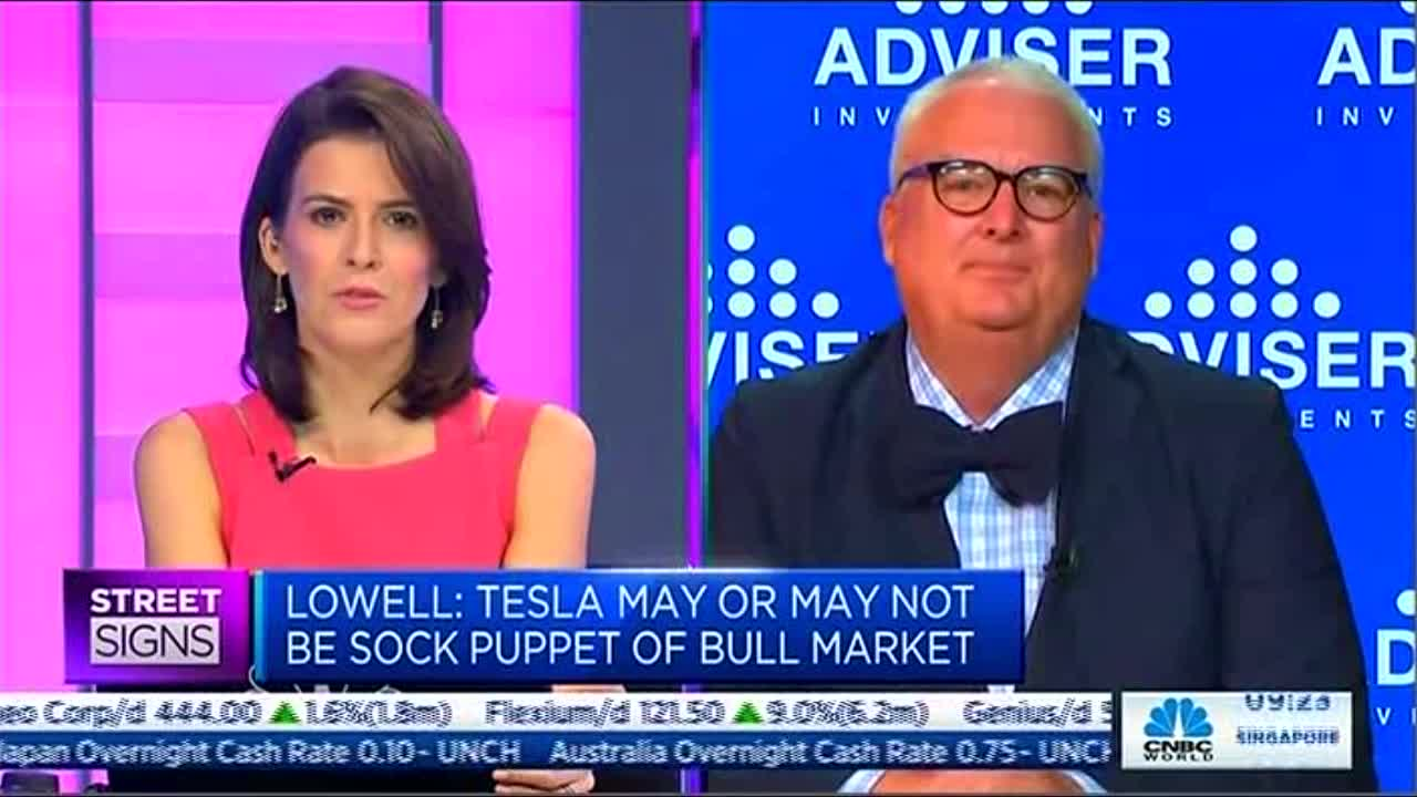 Lowell on CNBC: Is Tesla the Sock Puppet of Bull Market?