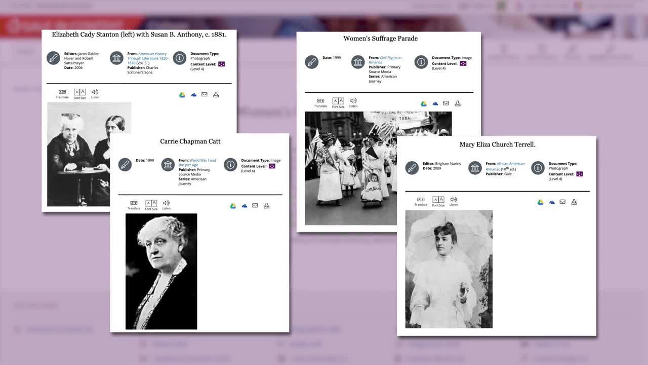 Women's History Month: 72 Years to Suffrage with Gale In Context: College Thumbnail
