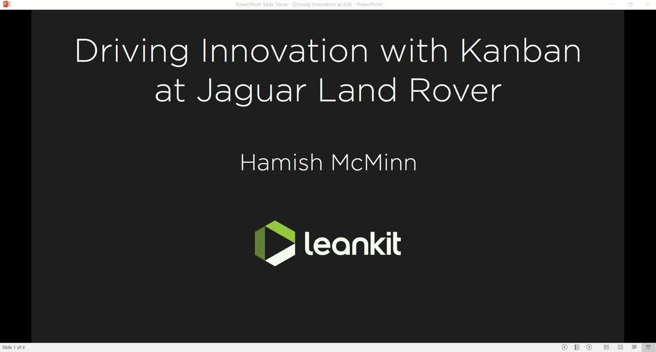 Video: Driving Innovation with Kanban at Jaguar Land Rover