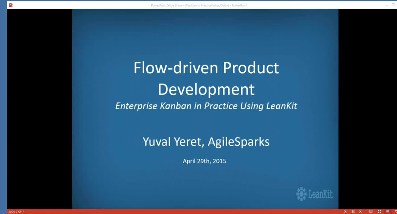 Video: Flow-driven Product Development Webinar with Yuval Yeret