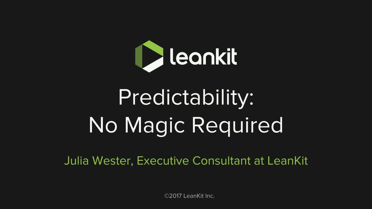 Video: Predictability: No Magic Required - Webinar