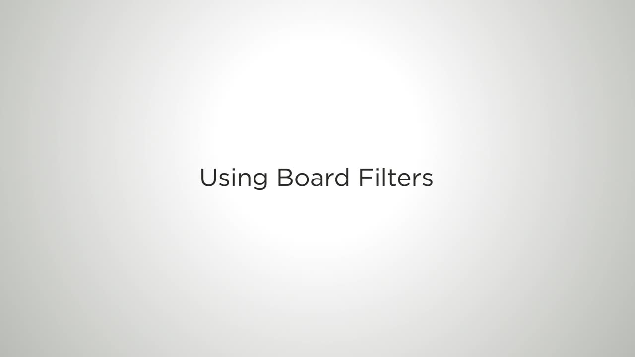 Video: Using Board Filters