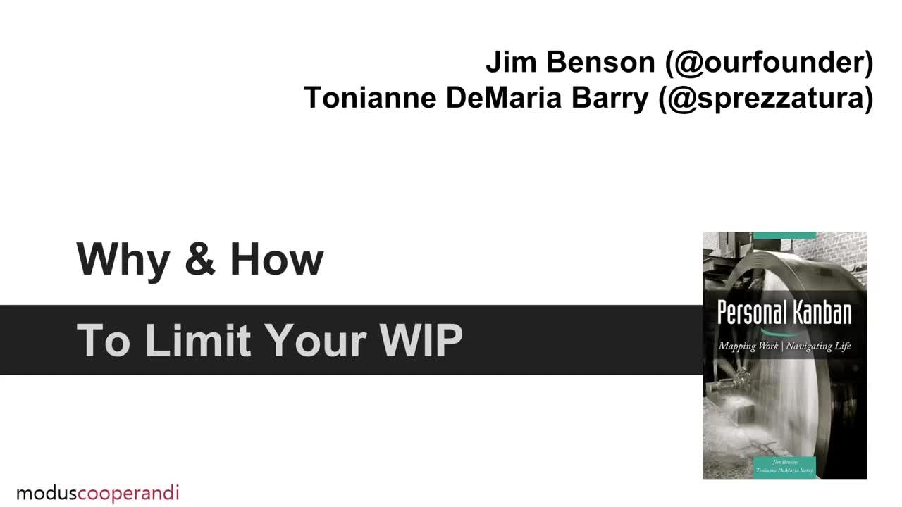 Video: Why and How to Limit Your WIP
