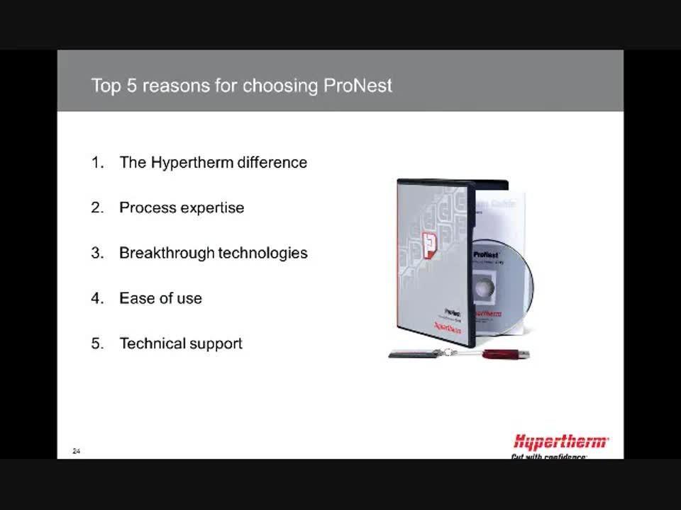 ProNest for waterjet