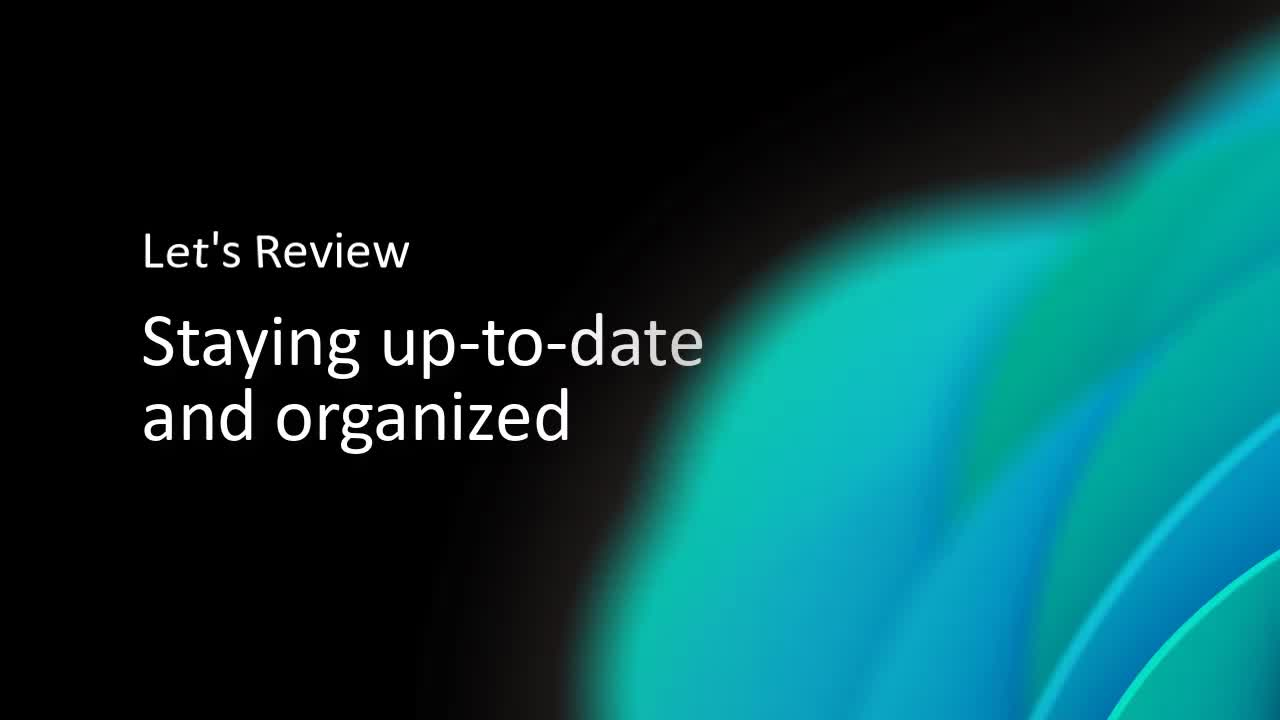 Video: staying organized and up-to-date to find relevant research in your field