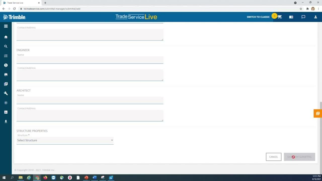 Submittal Manager - New Submittal Tutorial