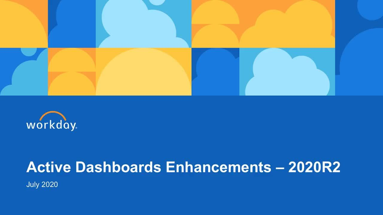 Active Dashboards Enhancements