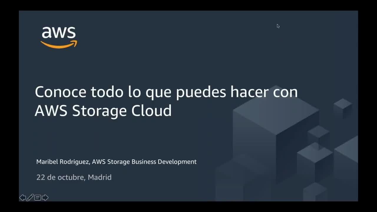Webinar: Conoce todo lo que puedes hacer con AWS Storage Cloud