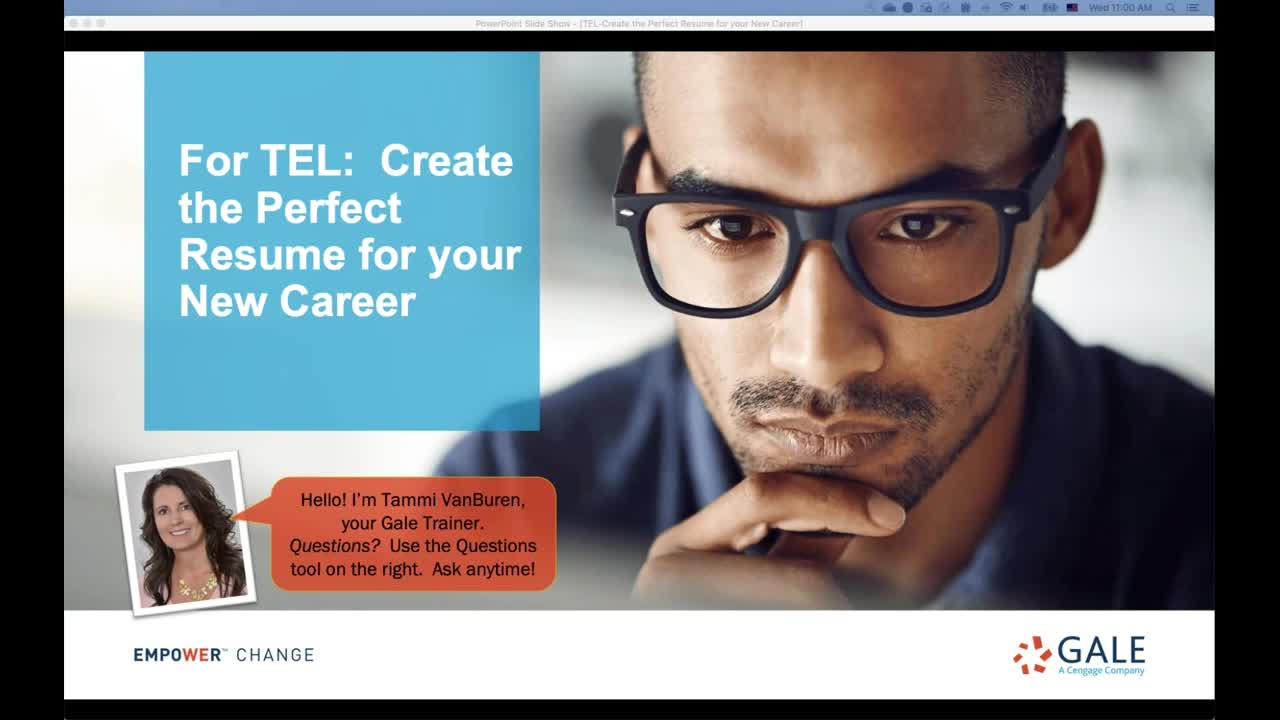 For TEL: Create the Perfect Resume for your New Career Thumbnail