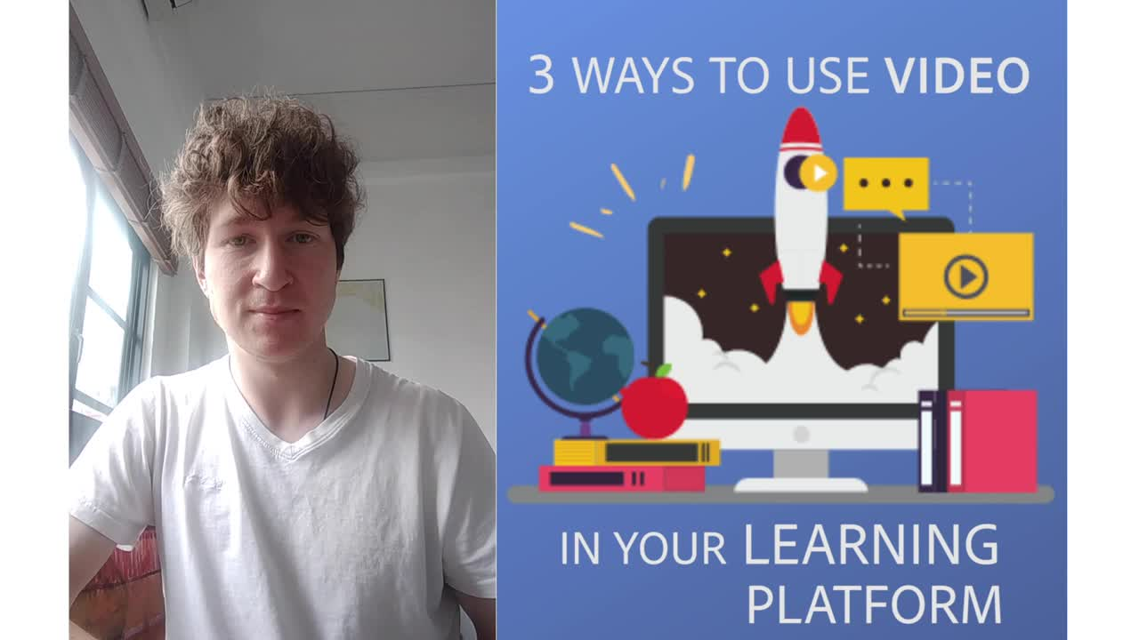 Videos for remote learning courseware