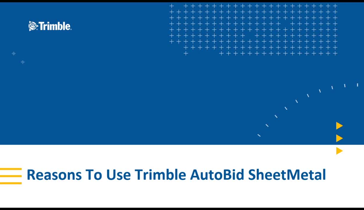 Reasons to Use Trimble AutoBid SheetMetal