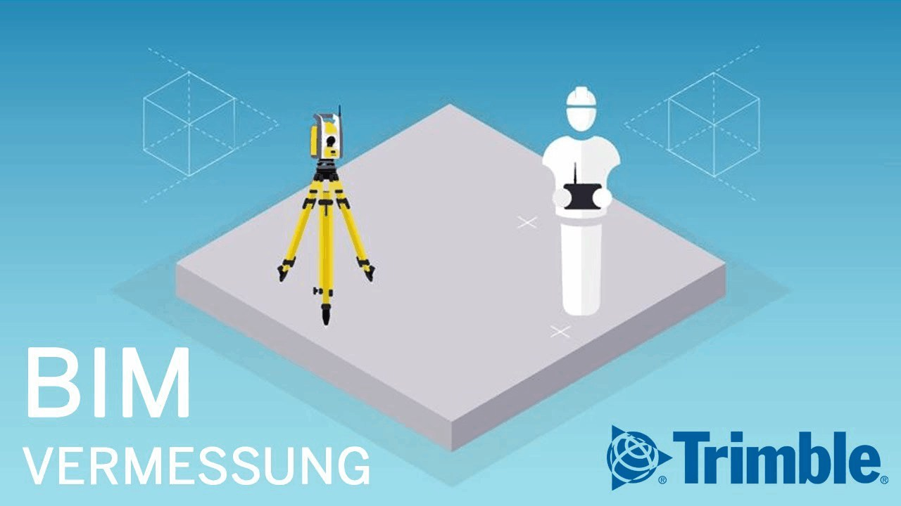 Vermessung mit Robotic Total Station & BIM-Software ►Schneller & präzise abstecken | Trimble