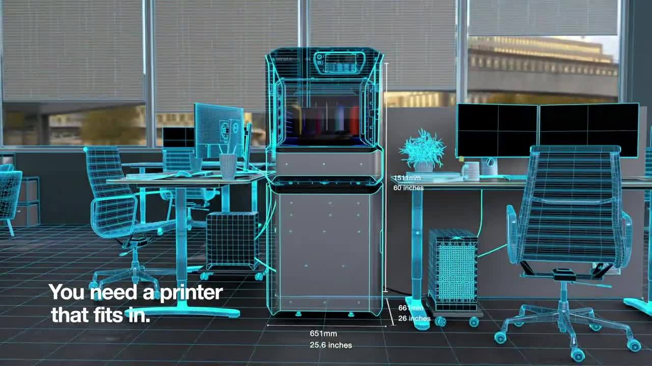Stratasys Introduces Full-Colour, Workplace-Pleasant J55 PolyJet 3D Printer